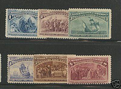 US  230-234,  236   Mint    catalog  $460.00