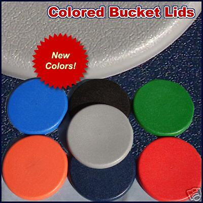 COLORED PLASTIC BUCKET LID 5/ 6 gallon SEAT or STORAGE