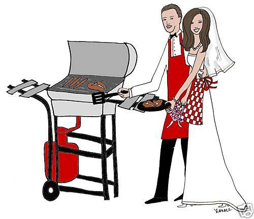 bridal cookout rehearsal engagement party cards