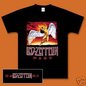 Led Zeppelin Swan Song COLOR MEN SHIRT NEW BLACK